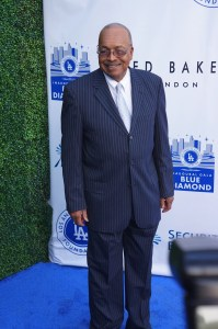 Tommy Davis on the blue carpet