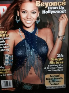 Beyoncé on the cover of Ebony Magazine wearing Cosmo and Nathalia