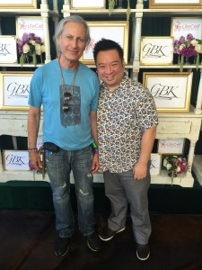Publisher, Erwin Glaub, with Rex Lee from Entourage. Photo courtesy Getty Images