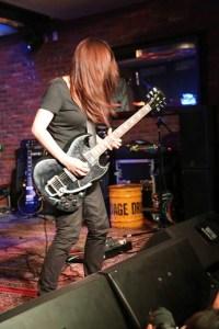 Myuki Okai on Gibson SG. Photo courtesy D Brown