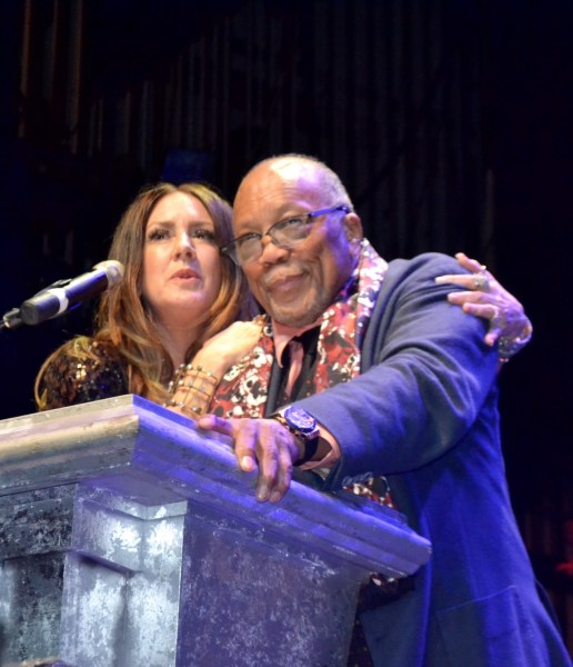 Joely Fischer with Quincy Jones at the Saban Theatre. Photo by Judy Hansen Pullos