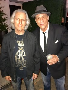 Publisher of the Experience Magazine, Erwin Glaub(L) with actor Robert Davi(R)