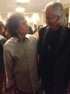 Zakir Hussain(L) and Erwin Glaub (R)