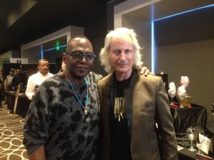 Legendary music producer, Randy Jackson (L) with Erwin Glaub (R) at the 2017 MTV Movie & TV Luxury Gifting Suite