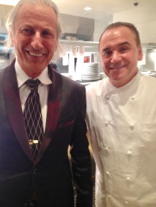Erwin Glaub from the Experience Magazine (L) with Chef John George