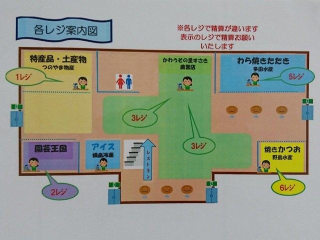 道の駅かわうその里すさきの1階案内図