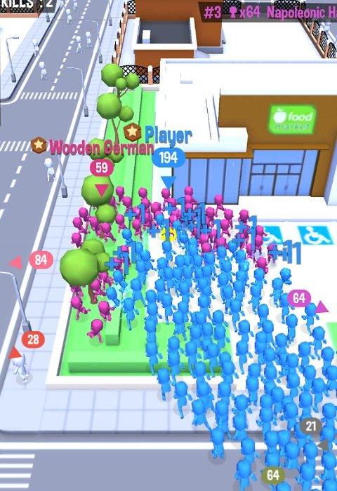 CrowdCity:敵チームを飲み込む