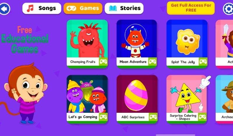 子ども向け英語教育アプリKidloLand:ゲーム