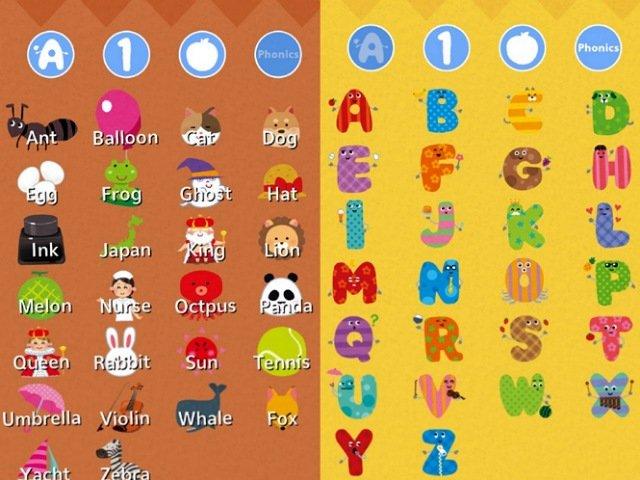 ABCアルファベット タッチで英語アプリ