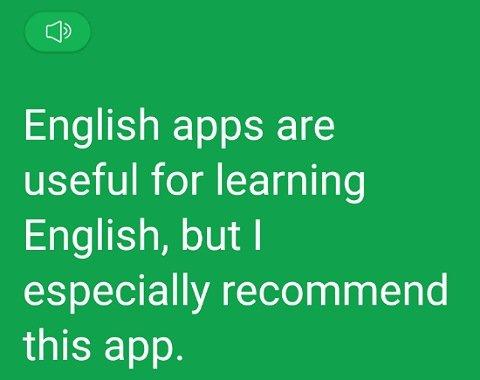 翻訳アプリPatago:英語に翻訳した結果2