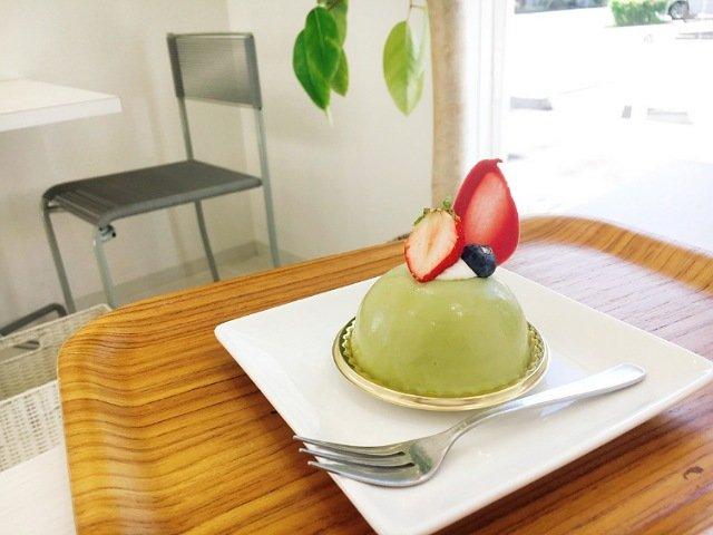 モンプレジール:ピスタチオのケーキ