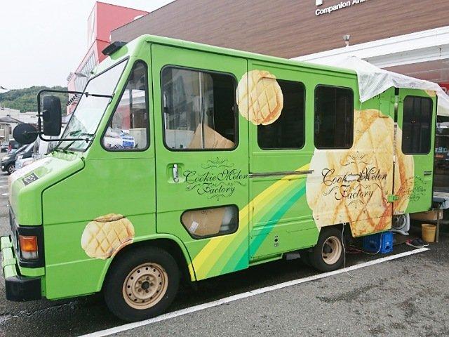 クッキーメロンパンの移動販売車