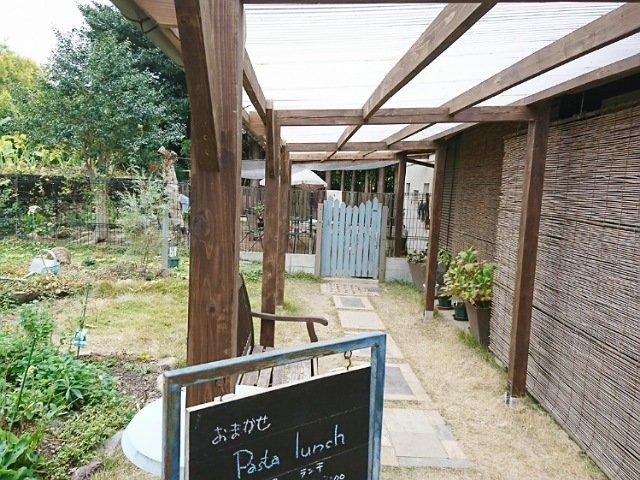 豆柴ドッグカフェmomoca:敷地内