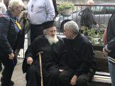 Ο Πρόεδρος της ΕΕΥΕΔ Χ. Φρόνης με τον πατέρα Αριστείδη στην Μικρόπολη Δράμας