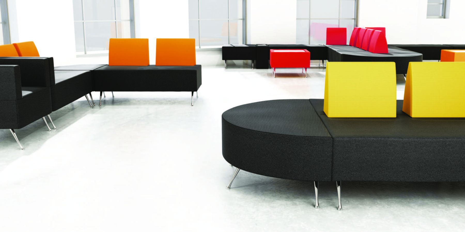 black seating in the healthcare sector