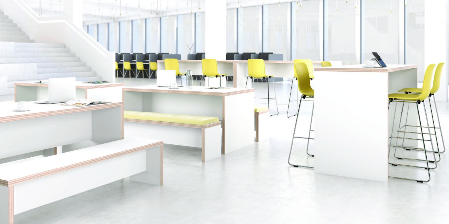 open spaced healthcare style furniture