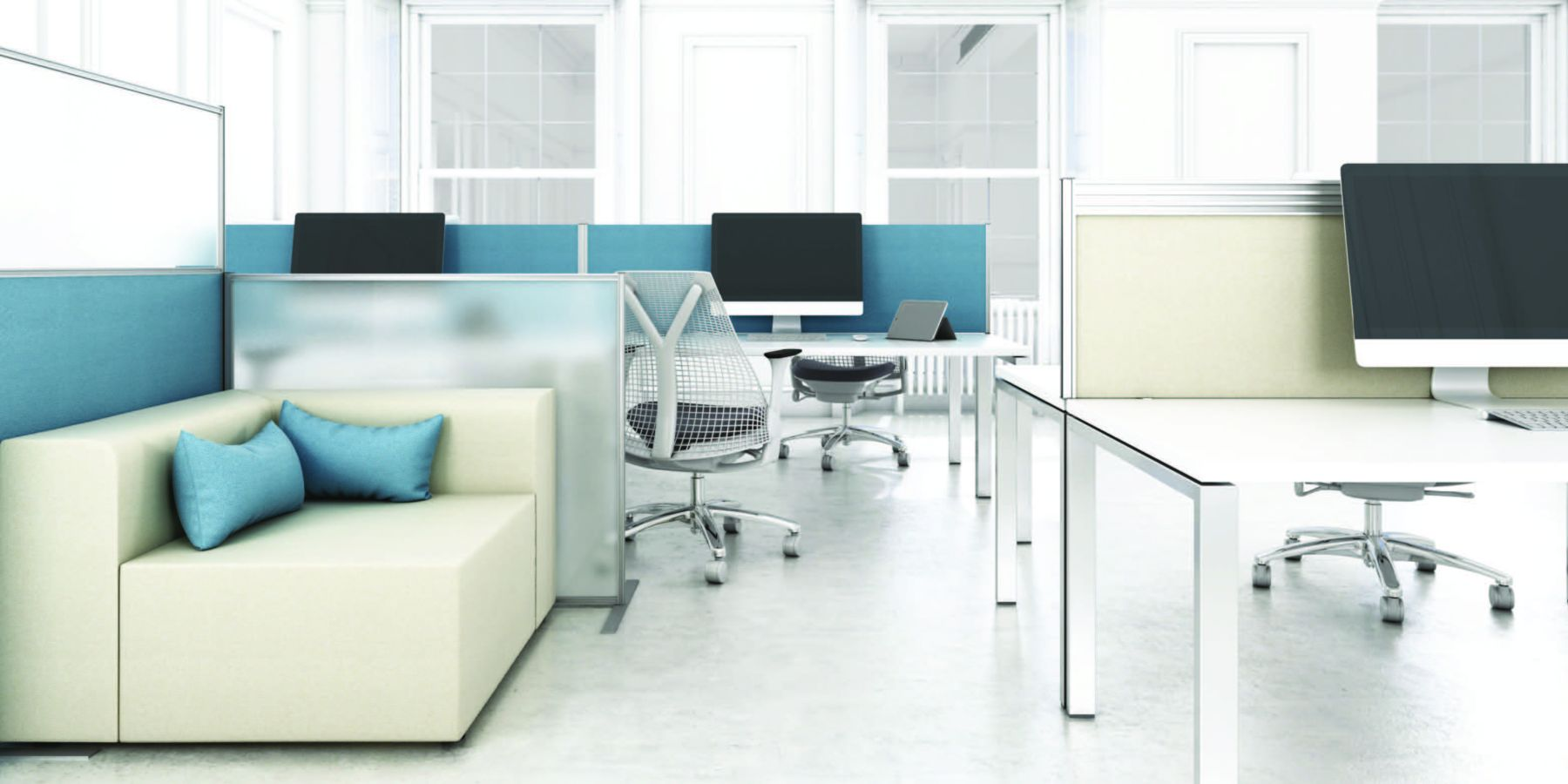 office style seating area for healthcare sectors