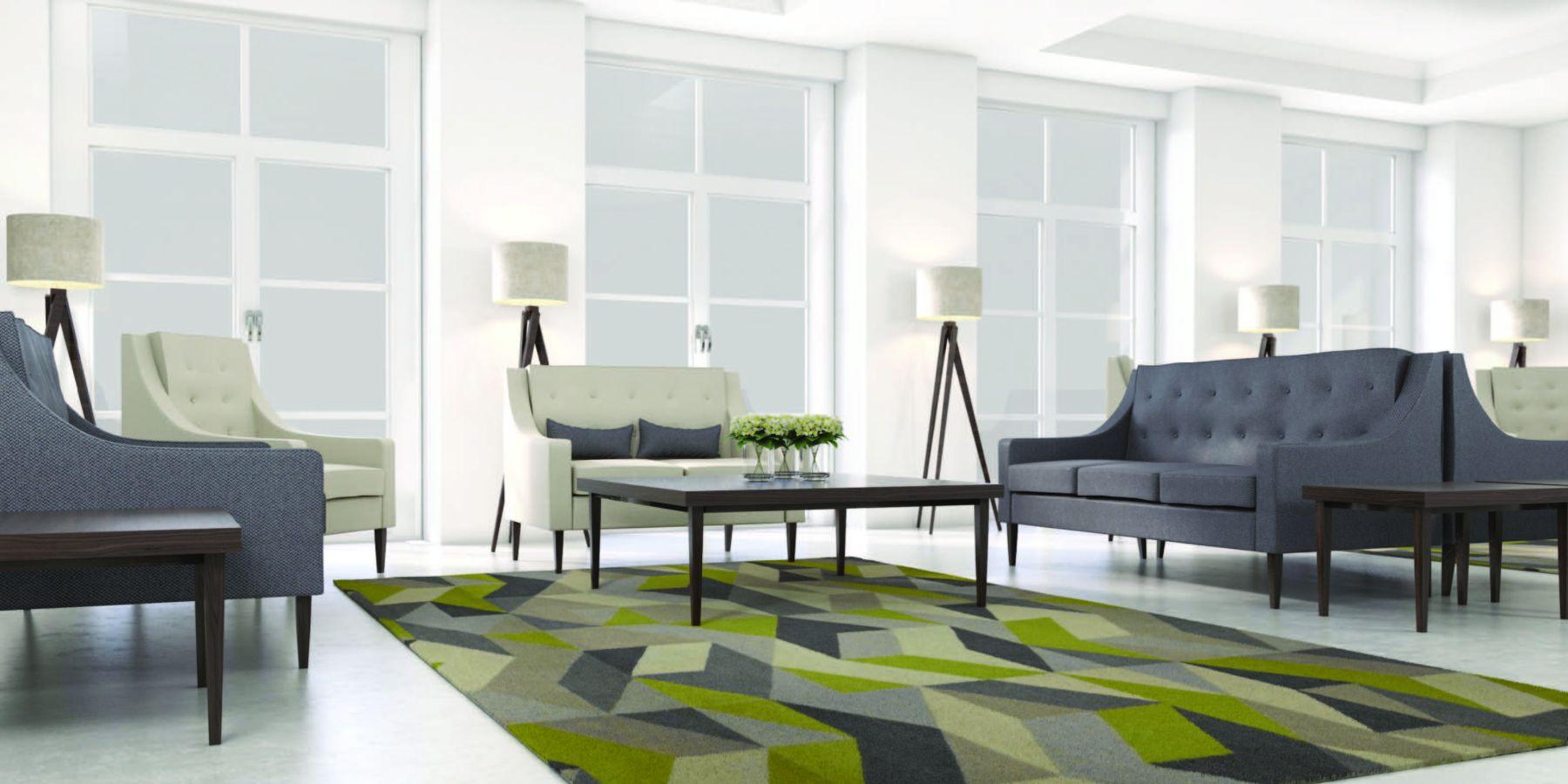 modular soft lounge feel with carpet
