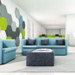 modular soft seating green area