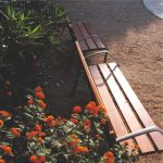 outdoor park bench made out of wood