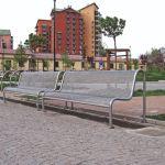eezi street furniture outdoor bench metal