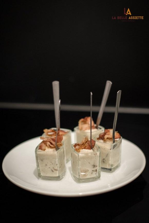 verrines de sarrasin au lard