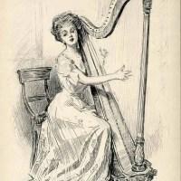 3 Musical Gibson Girl Sketches