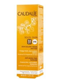 Caudalie Soleil Divin Anti-Aging Face Suncare Spf50 (Αντηλιακή Κρέμα Προσώπου που Ενυδατώνει) 40ml