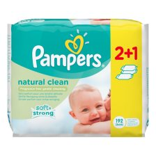 Pampers Natural Clean 192wipes