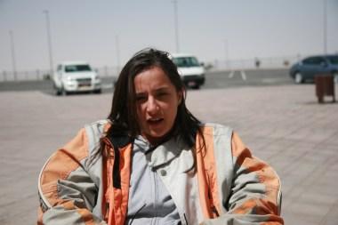 Julia Caratus on the top of Jebel Haafet