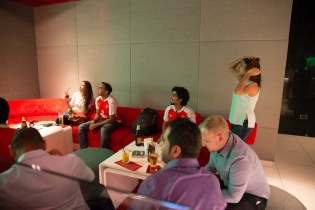 Fans in the Arsenal bar