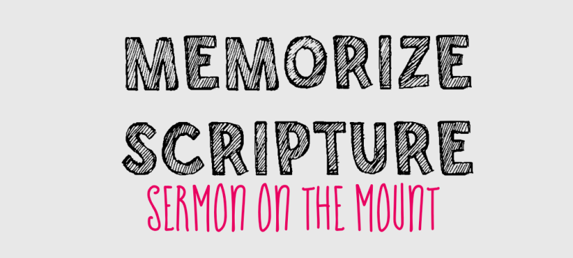 Memory Plan:  Sermon On The Mount