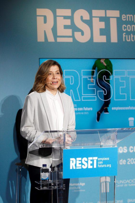 En la foto, la directora Gerente de la Fundación Canal, Eva Tormo.EFE/Javier Liaño