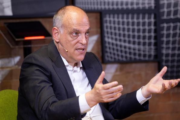En la foto, el presidente de LaLiga, Javier Tebas.
