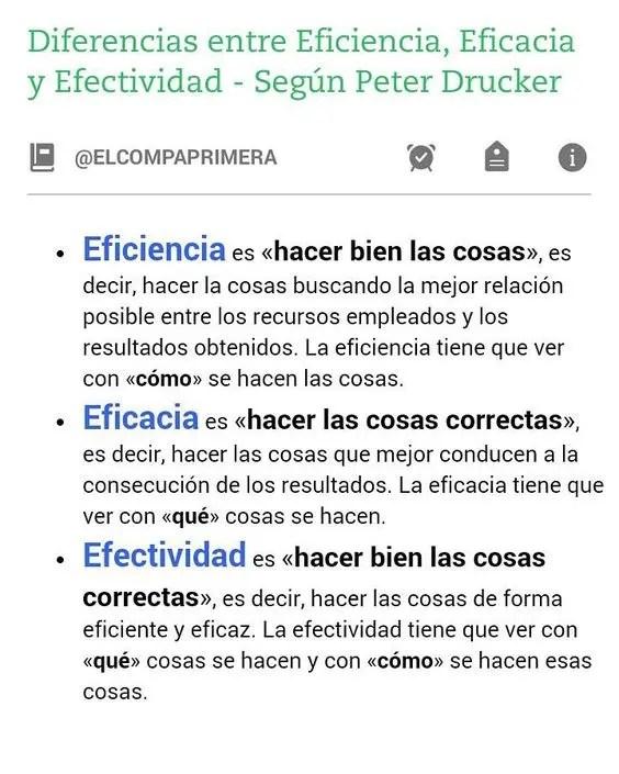 Diferencias entre Efectividad, Eficacia y Eficiencia