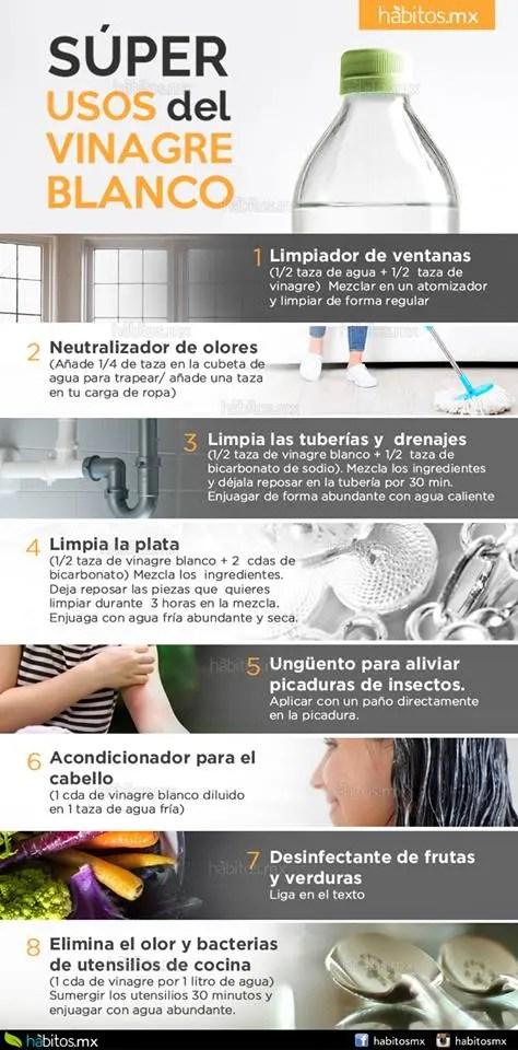 Algunos de los beneficios de usar vinagre para limpiar