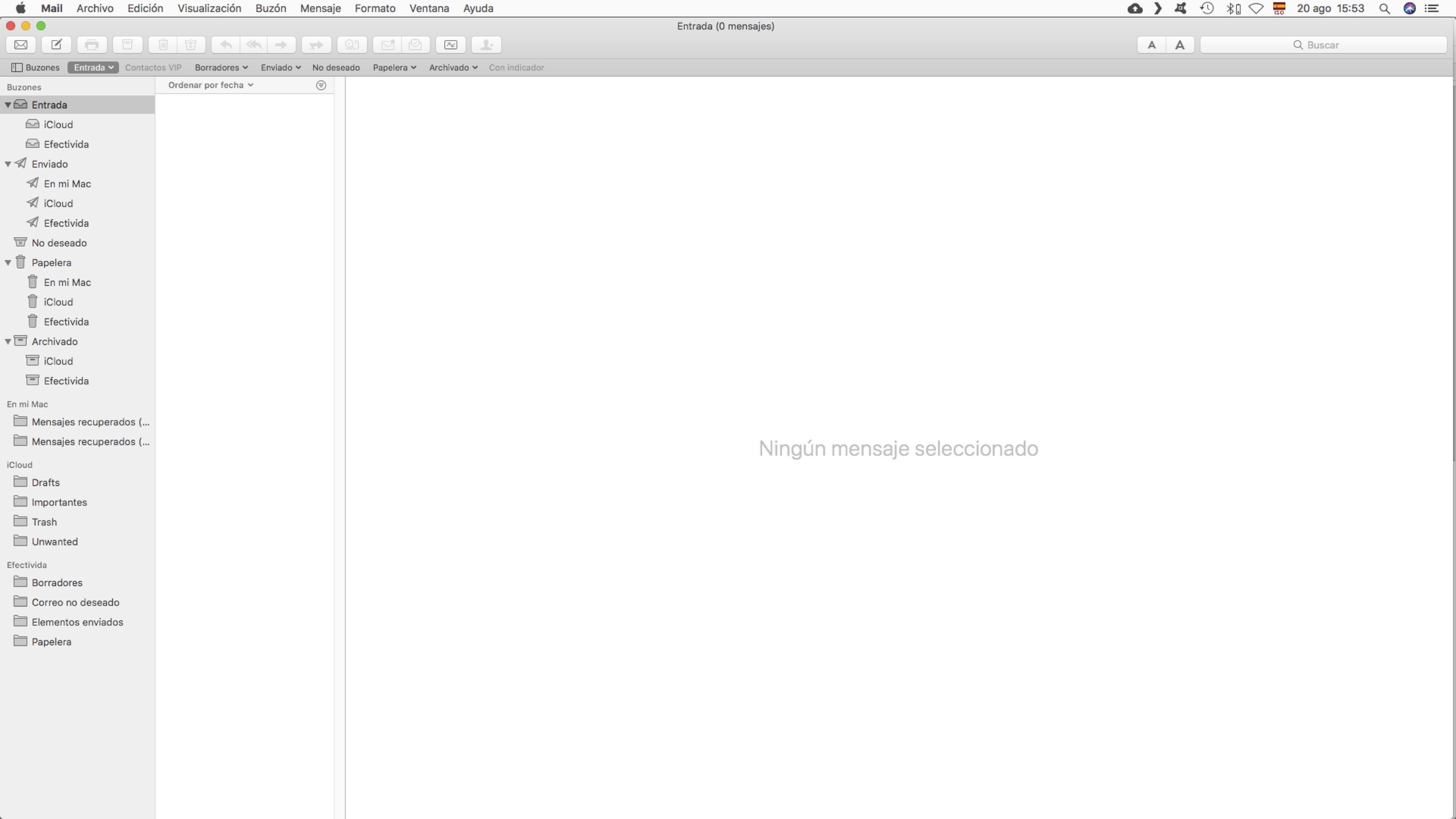 Inbox zero extreme en Mail de iCloud