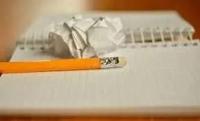 Un trozo de papel de una libreta