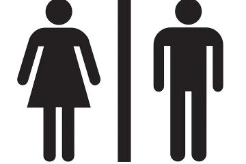 Letreros de un baño hombres mujeres