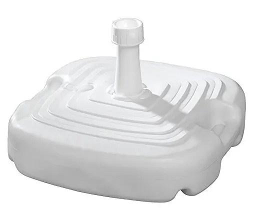 Base de plástico para sombrillas de jardín