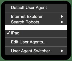 iPad-Seleccionando