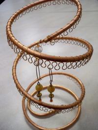 Spiral Copper Earring Tree Holder, Organizer. Holds ...