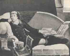 Tadeusz Kosciuszko reconvalescing during his stay in London in 1797by Richard Cosway (1797). In the collection of the Polish Army Museum