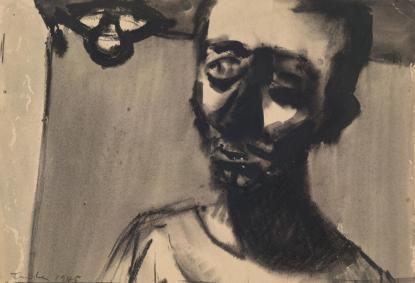 Albert Tucker, Self Portrait, 1945. National Gallery of Victoria, Melbourne. Copyright Barbara Tucker.