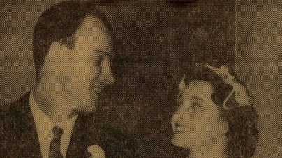 Roald Dahl at his wedding to Patricia Neale (1953) from RoaldDahl.com