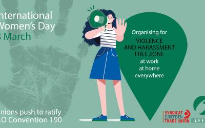 IWD 2021 - Een wereld van werk zonder gendergerelateerd geweld en pesterijen