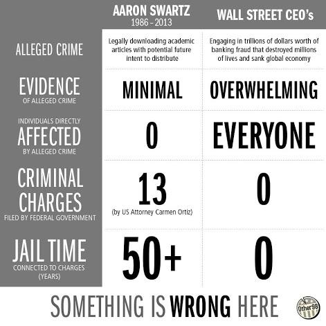 Aaron Swartz infographic