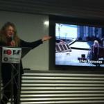 Jasmina Tešanović performs an original poem at #EFFSalon