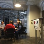 Bill Binney speaks with Scott Henson and Mike Godwin at #EFFSalon