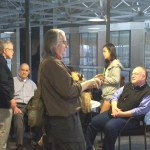 Left to right: Jon Lebkowsky, Bill Binney, Bruce Sterling, Mike Godwin at #EFFSalon